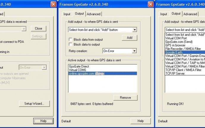 Подключение GPS-приёмника к ноутбуку и создание GPS-треккера